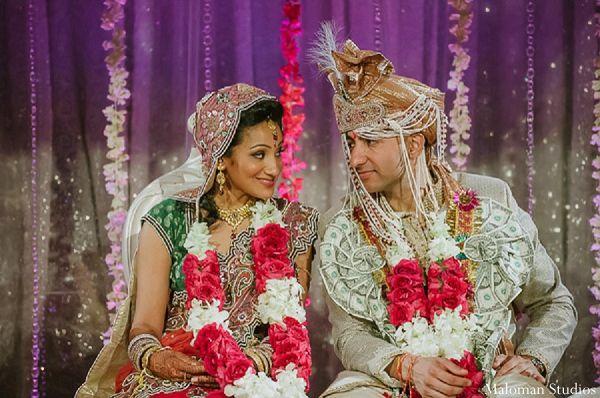 indian wedding bride groom ceremony http://maharaniweddings.com/gallery/photo/9273