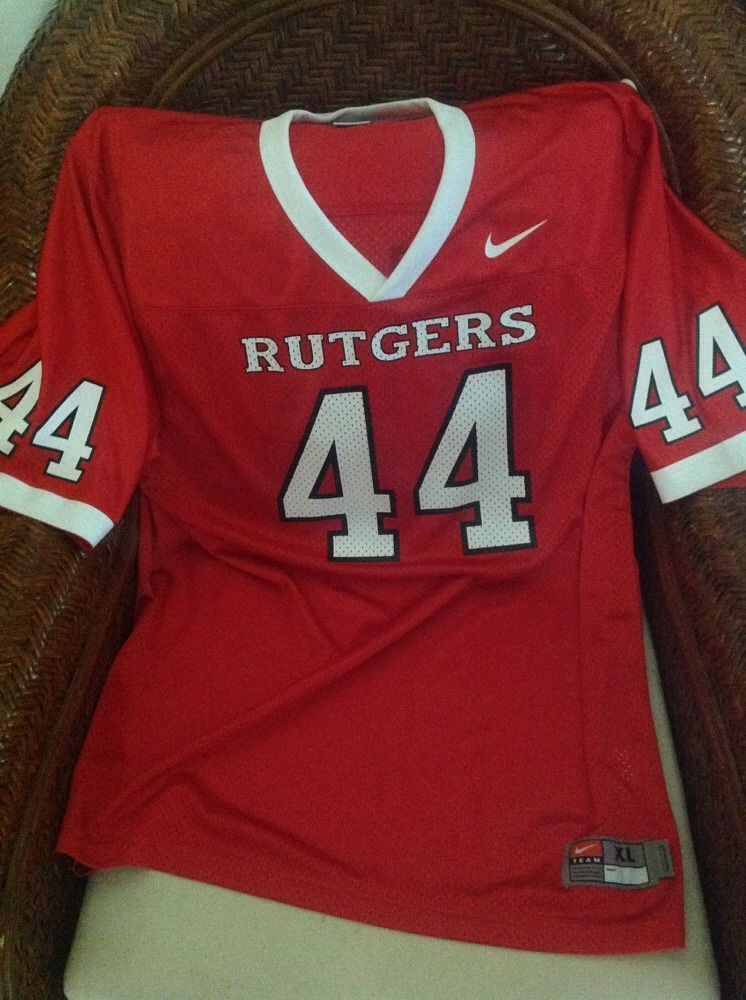 Nike Authentic Rutgers University 44 Ncaa Red Football Jersey Size Xl Mens Jersey Football Football Jerseys