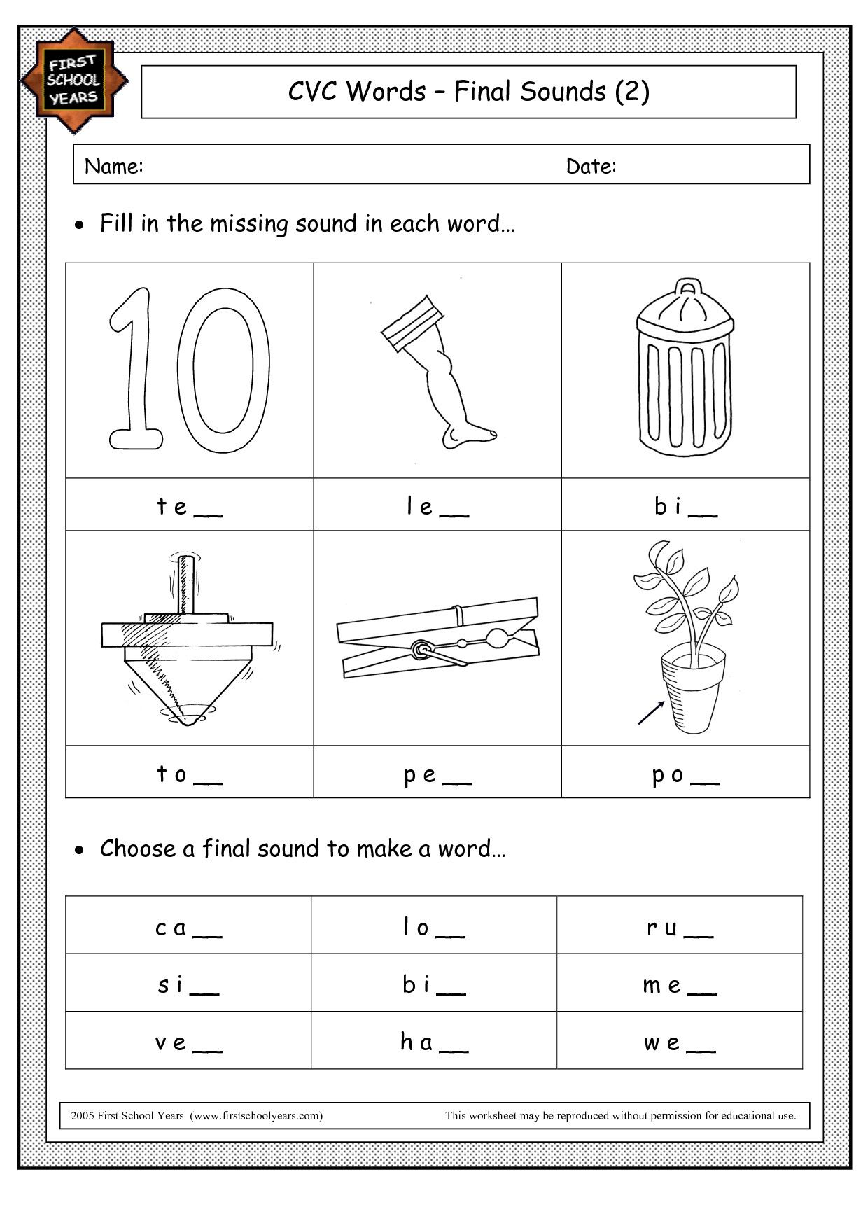 5 Worksheets Rhyming Words Bell And Shell 2 In