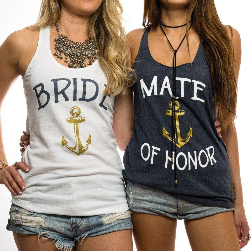 b91b62db3 Bride // Mate Of Honor // Bride's Mates Tank | Bachelorette Party ...