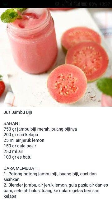 Jus Jambu Biji Makanan Dan Minuman Resep Juice Resep Minuman