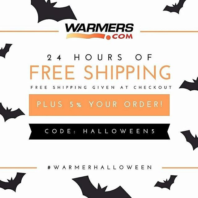 Get spooky savings with 5% off select items and free ground shipping for 24 hours only! Link in profile! #warmerhalloween #thewarmerstore #handwarmers #toewarmers #grabberwarmers #hothandswarmers