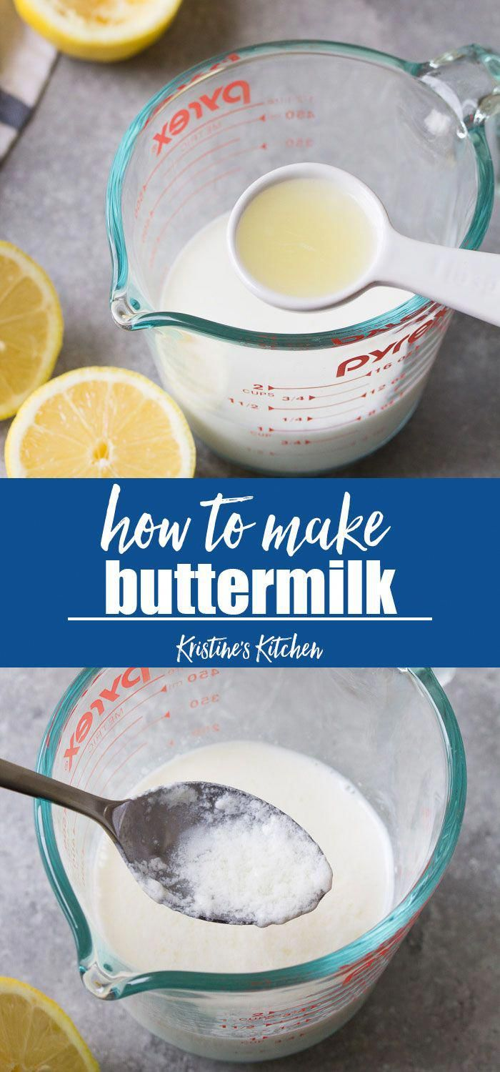 How To Make Buttermilk Substitute With Just Two Ingredients And Ten Minutes Three Easy Way In 2020 How To Make Buttermilk Buttermilk Recipes Pancake Recipe Buttermilk