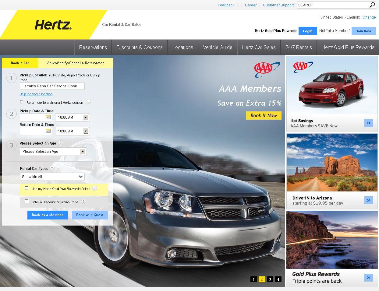 Hertz Rent A Car Car rental, Hertz car sales