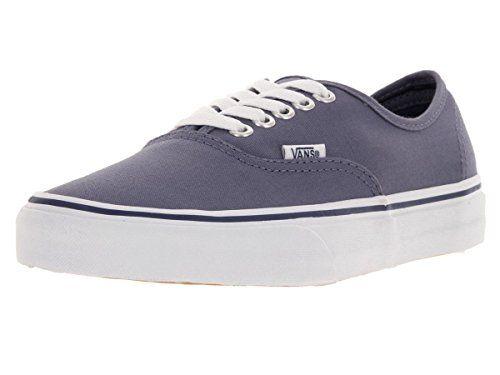 Vans Unisex Authentic Heron/True White Skate Shoe 8 Men US / 9.5 Women US