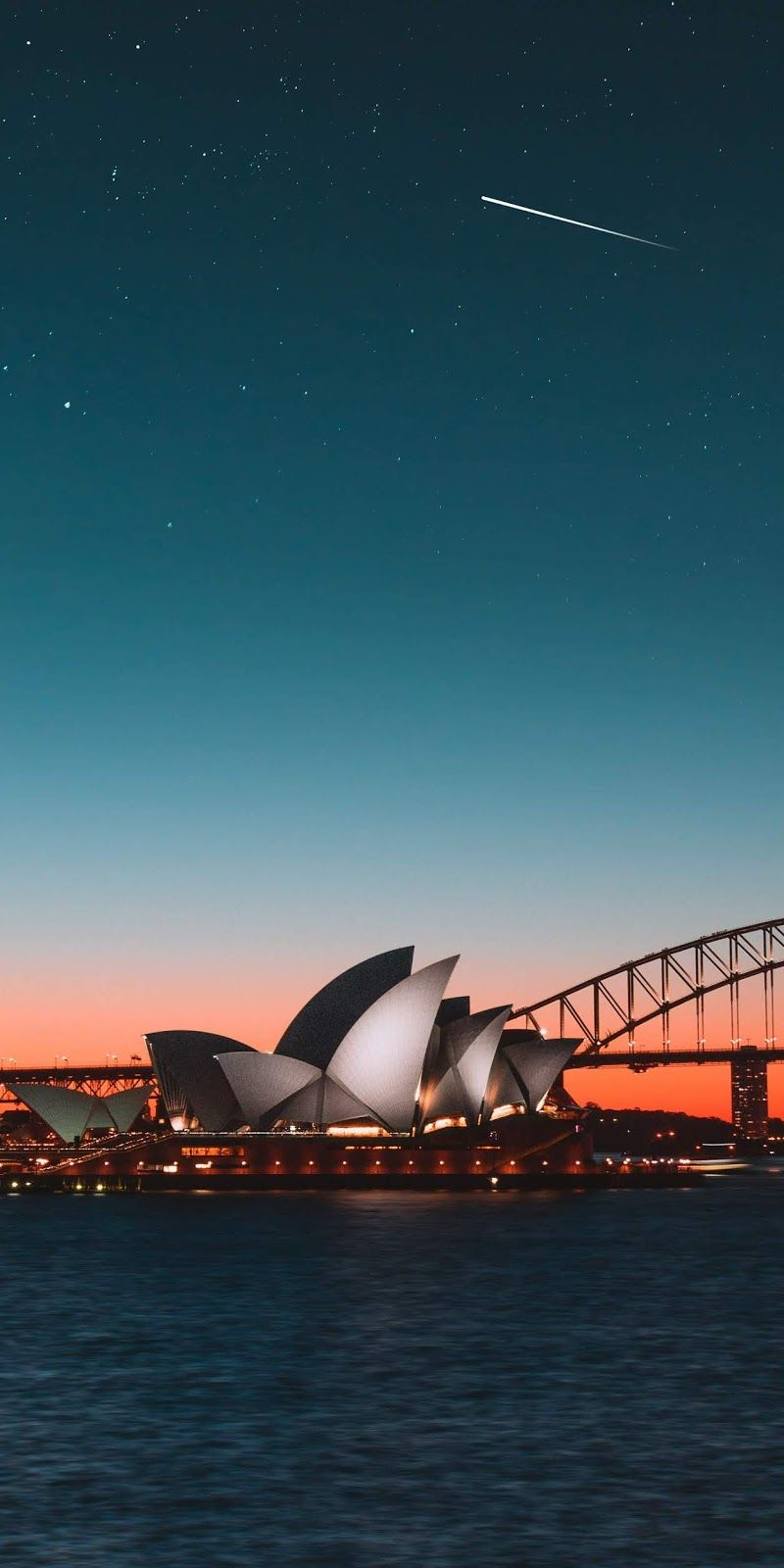 Shooting Star At Opera Sydney Wallpaper Iphone Android