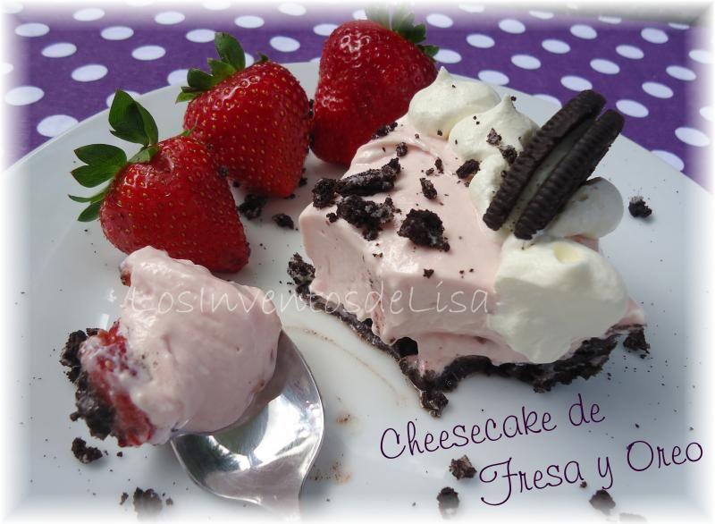 Los Inventos de Lisa: Cheesecake de Fresa y Oreo