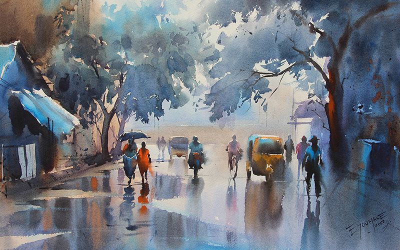 Image Associee Watercolor Landscape Paintings Western Paintings