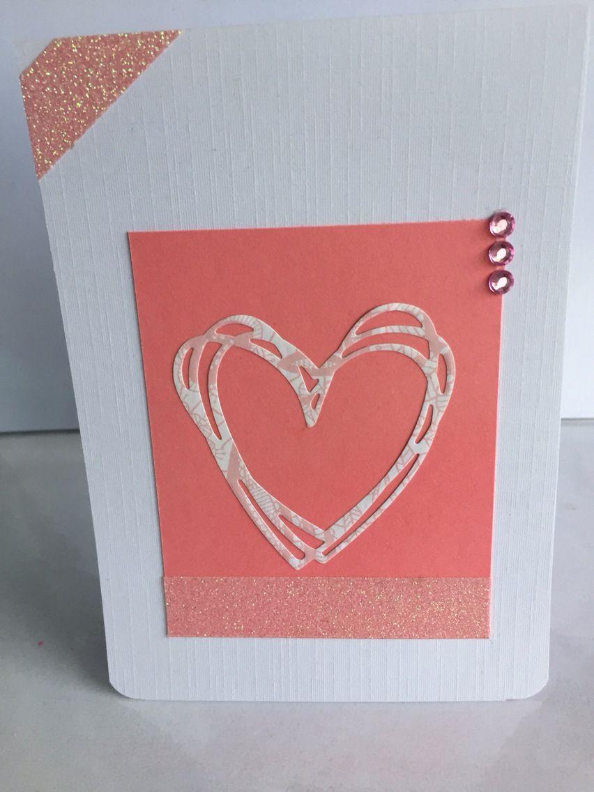 Carte De Felicitations Pour Un Mariage Rose Et Blanc Cartes Par