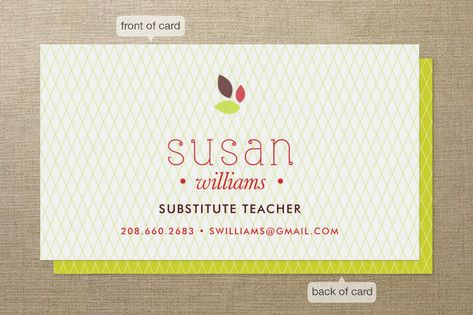 Apple for the Teacher Business Cards by Avie Designs at minted.com ...