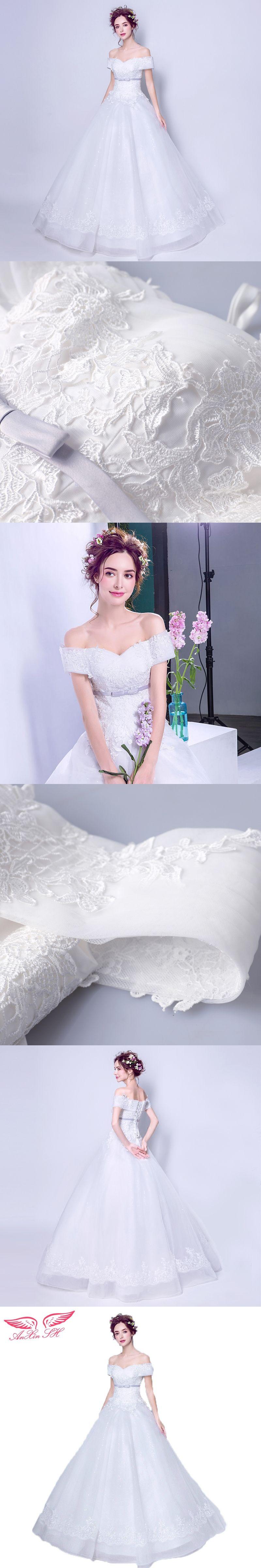 Wedding dresses for thin figures AnXin SH Charming figure Strapless thin tall princess bride wedding