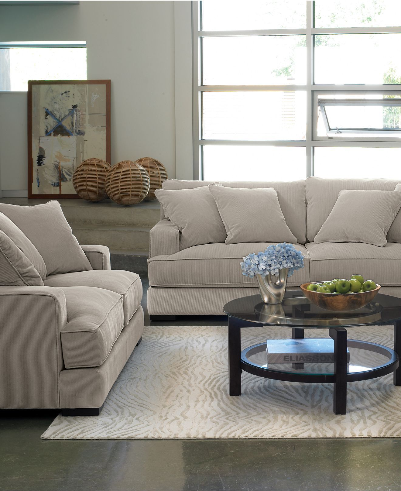 Love this sofa and loveseat from Macy s The color is called toro