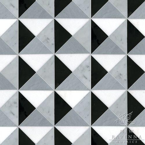 Geometric Marble Tile Pattern Ravenna Mosaics Stone Mosaic