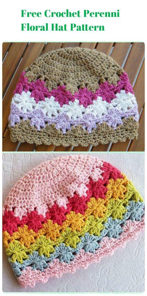 17 Free Crochet Baby Beanie Hat Patterns Crochet Hats Pinterest