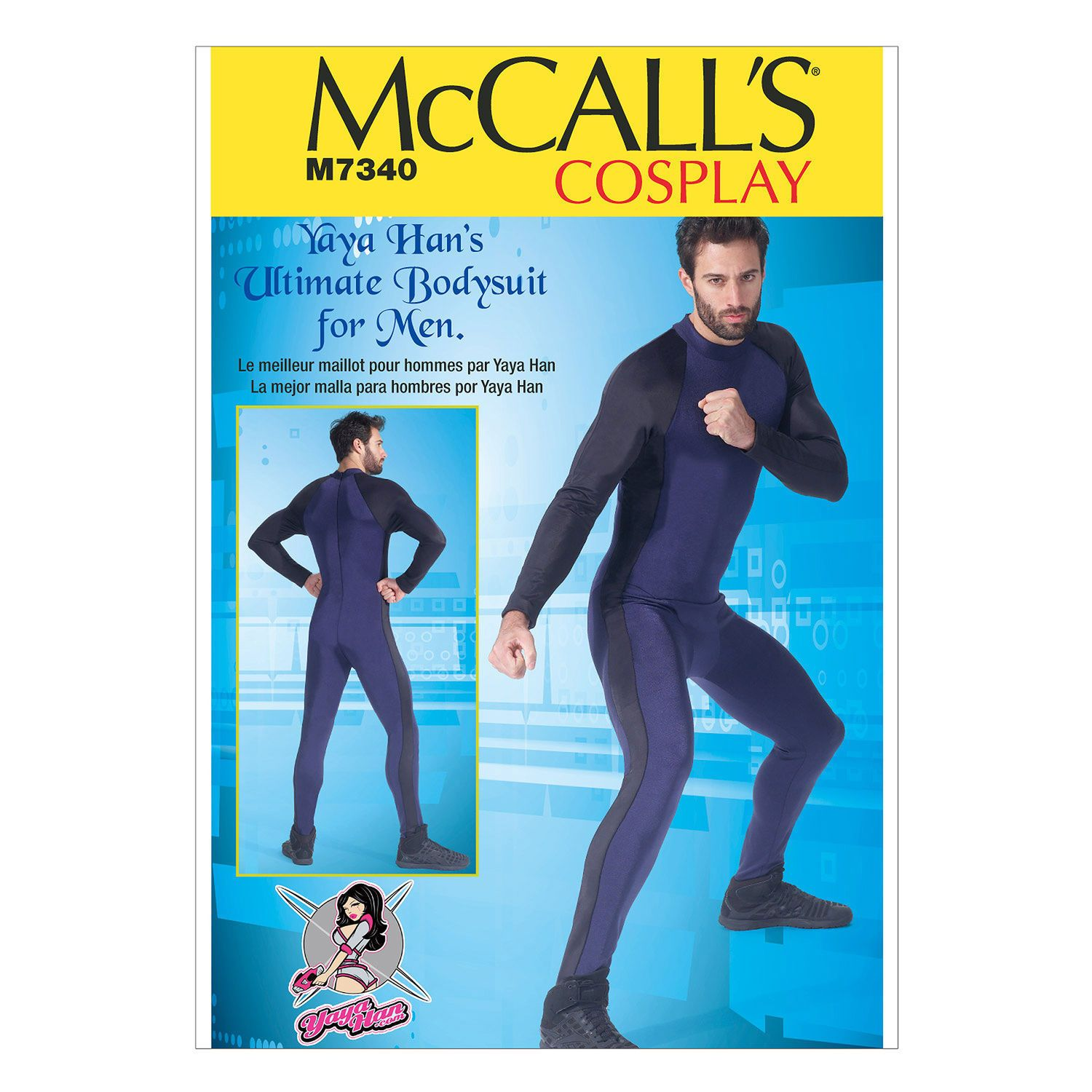 McCalls 7340 Men\'s Bodysuit Costume Yaya Han Cosplay Sewing Pattern ...