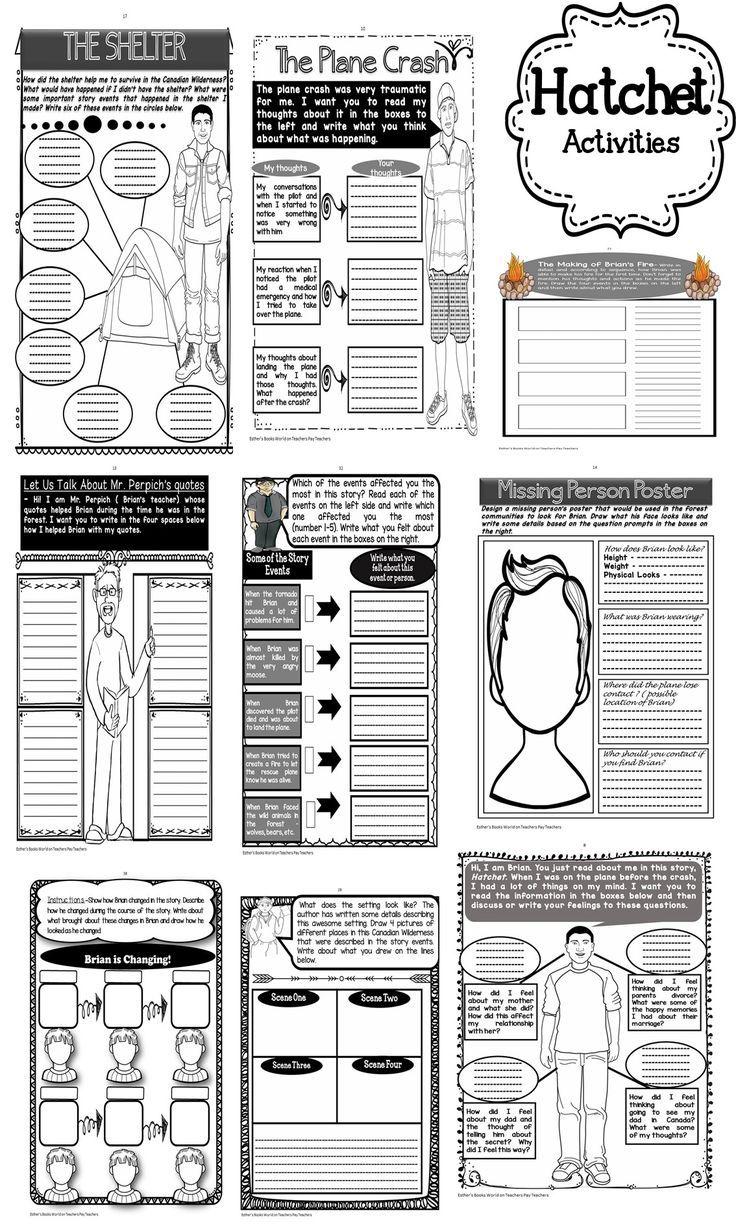 Worksheets Hatchet Worksheets hatchet novel activities unit english writing and unit