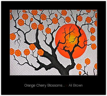 """Orange Cherry Blossoms..."" by Ali Brown"
