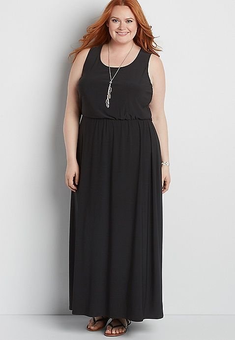 plus size maxi dress with crocheted back | maurices ...
