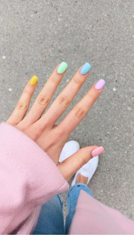 Different Cute Colors For Nails Inspiring Ladies Short Acrylic Nails Color For Nails Dream Nails