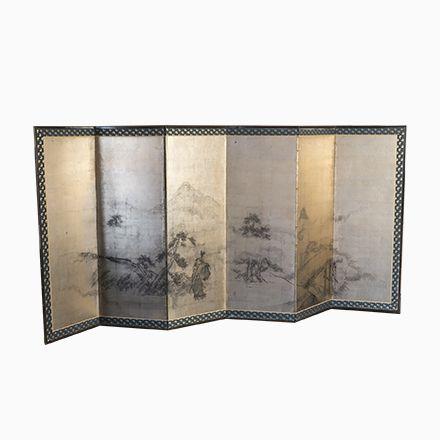 Raumteiler Japanisch vergoldeter antiker japanischer raumteiler jetzt bestellen unter
