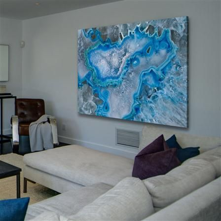 Marmont Hill ICY Layers Painting Print on Wrapped Canvas
