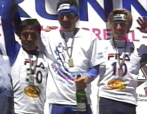 Carreras de Montaña: Skyrunning 1.998. I Campeonato Mundial: Bruno Brunod, Ricardo Mejía y Matt Carpenter.