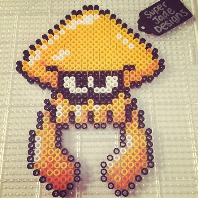 Splatoon Perler Beads By Superjade Designs Bead Art