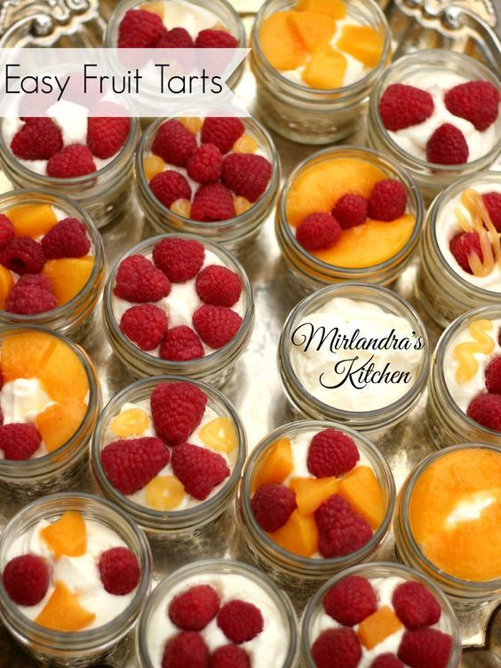 These lovely fruit tarts have a light, creamy cheesecake style filling and whatever fruit you like on top.  Make them in Mason Jars for individual servings you can store in the refrigerator.  Perfect for Easter!