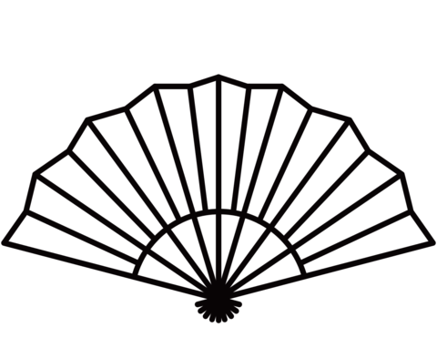 Japanese Fan Coloring Page Japanese Tattoo Japanese Tattoo Designs Fan Drawing