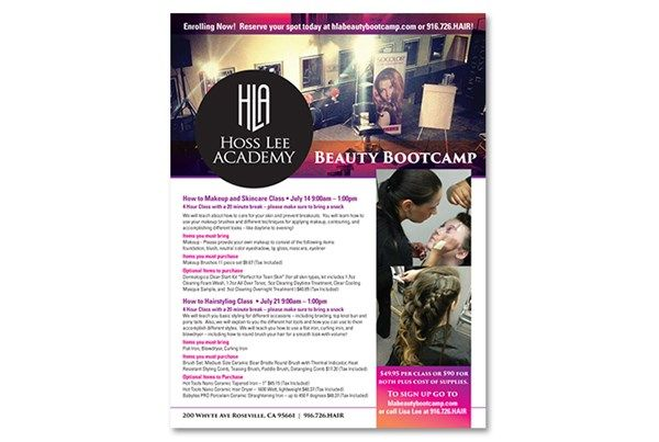 Event Flyer for Hoss Lee Academy designed by The Marketing Minds