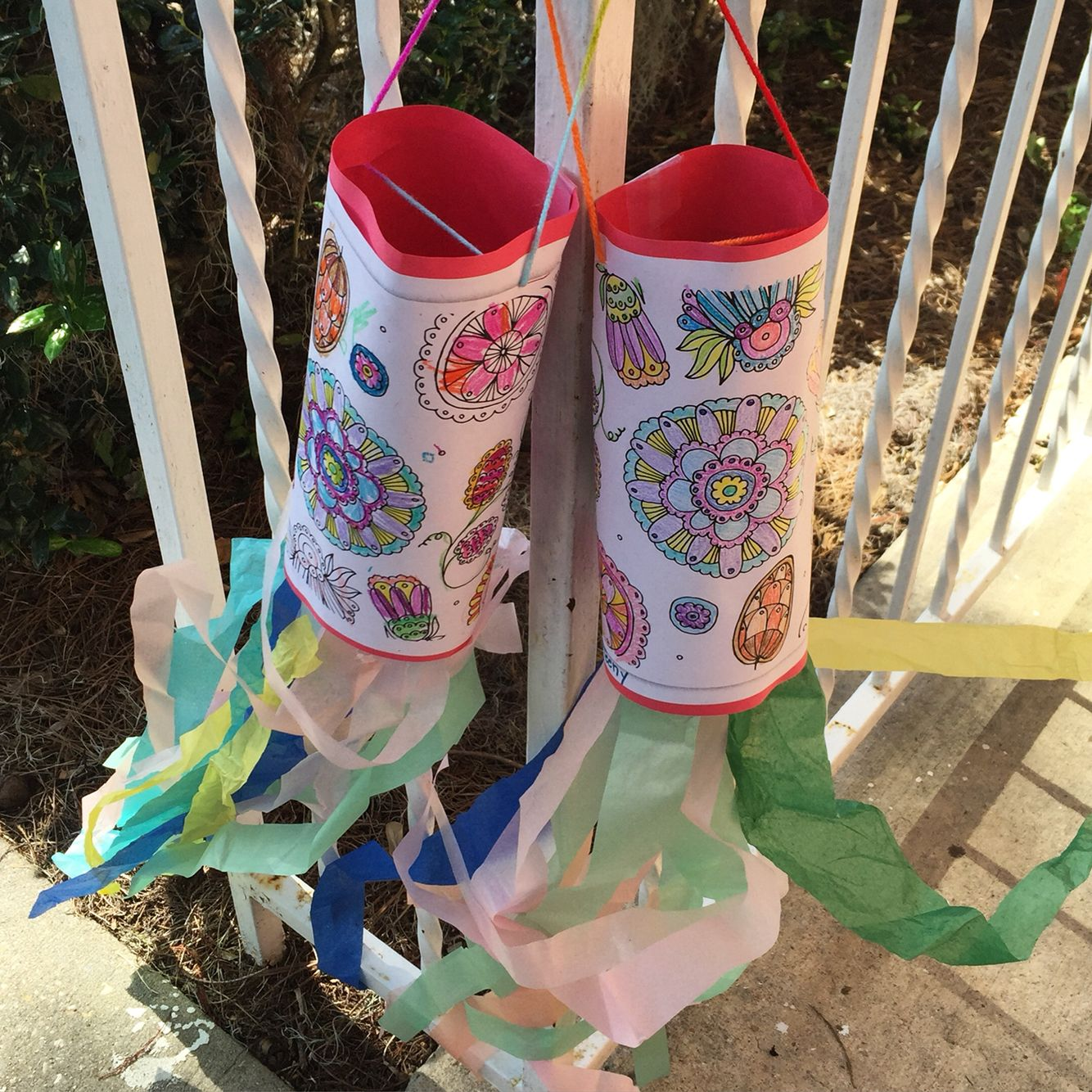 Create Colorful Windsocks From Coloring Sheets