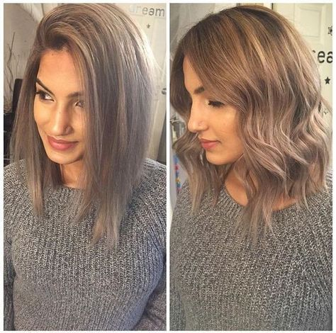 A Line Lob Haircut Wavy Shoulder Length Hairstyles 2017