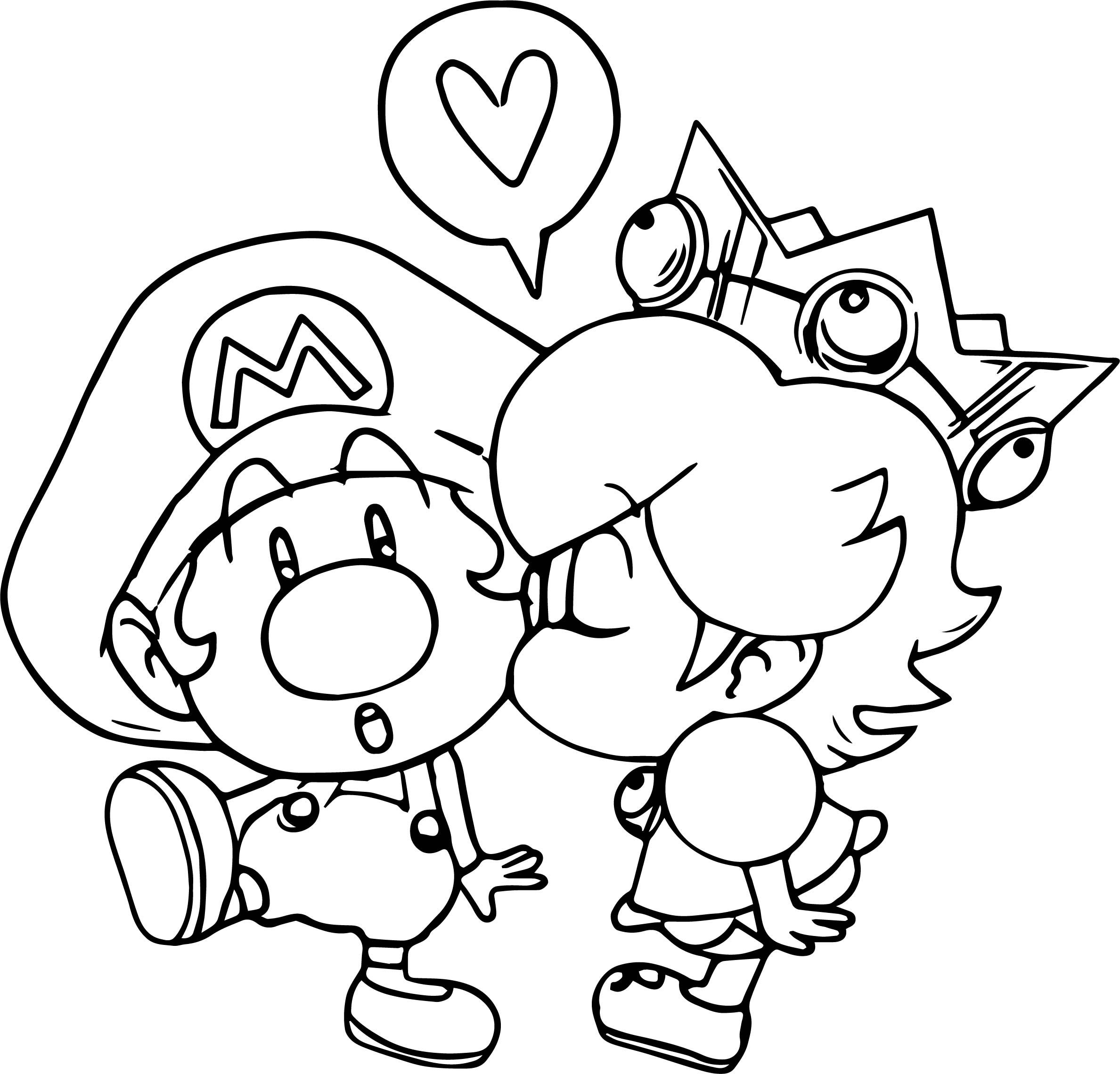Awesome Mario And Daisy Coloring Page Super Mario Coloring Pages Mario Coloring Pages Avengers Coloring Pages