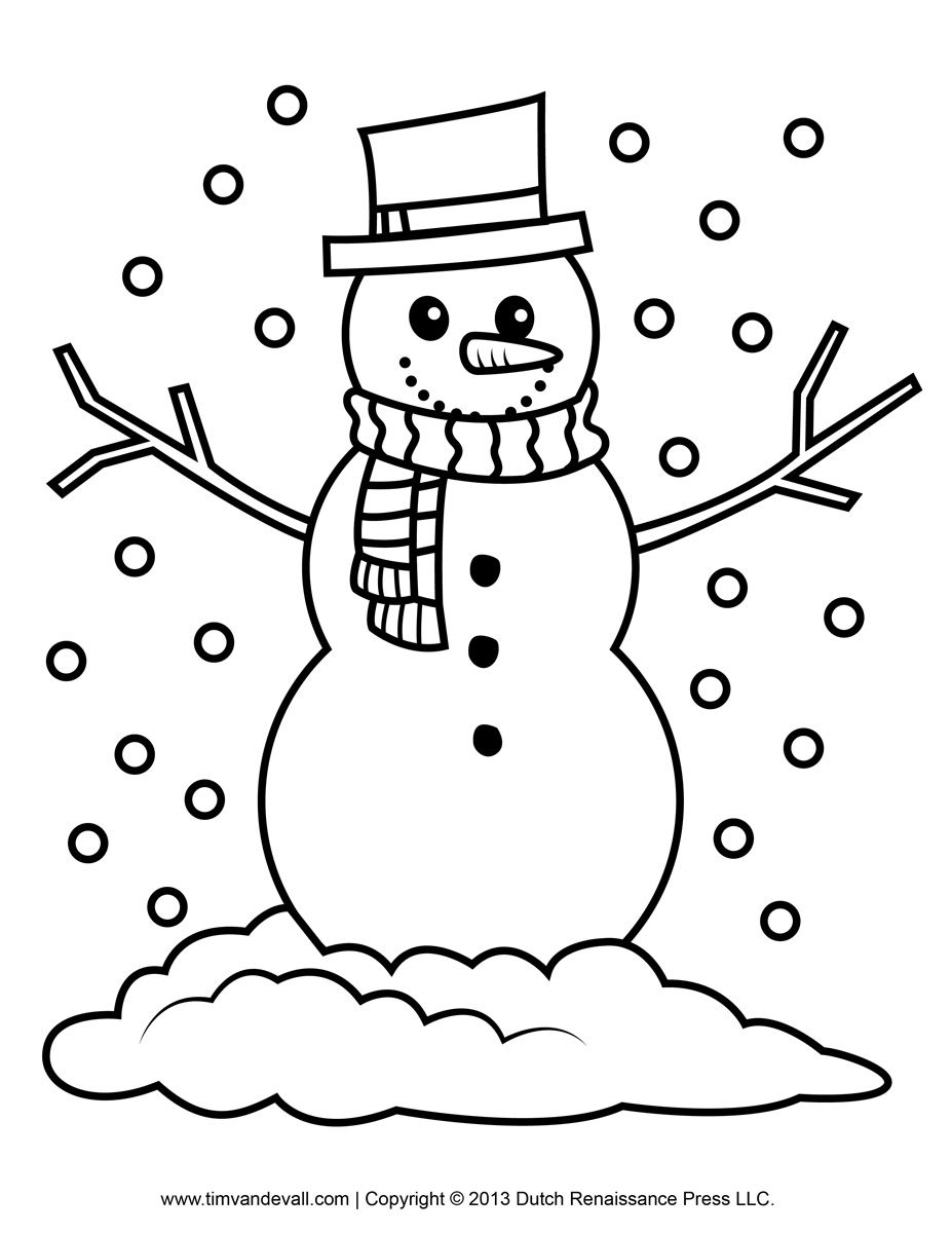 Free snowman clipart, template & printable coloring pages for kids ...