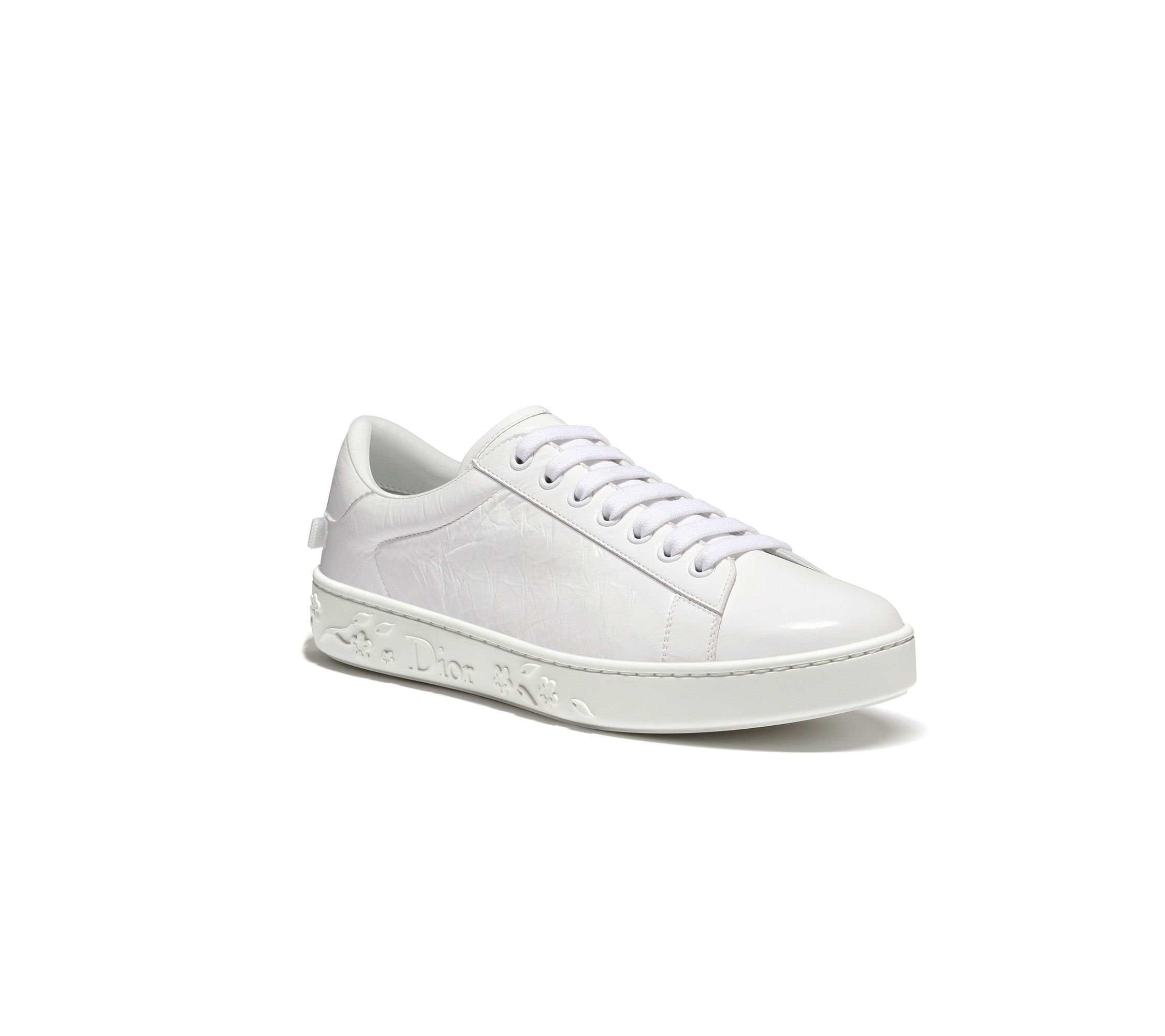 White crinkled lambskin leather sneaker - Dior   sneakers ... 96e5602586f