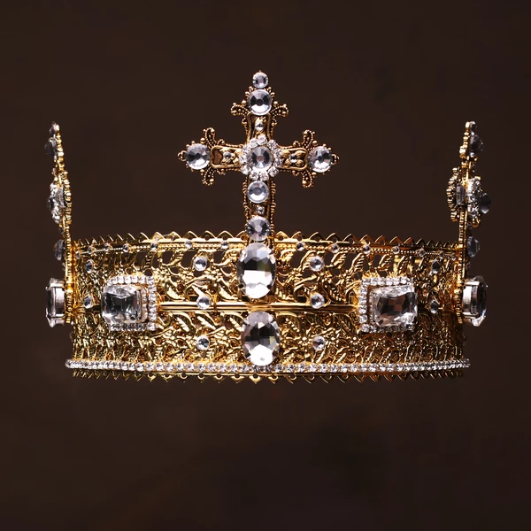 8.5cm High Crystal Large Wedding Bridal Party Pageant Prom Tiara Crown 7 Colors