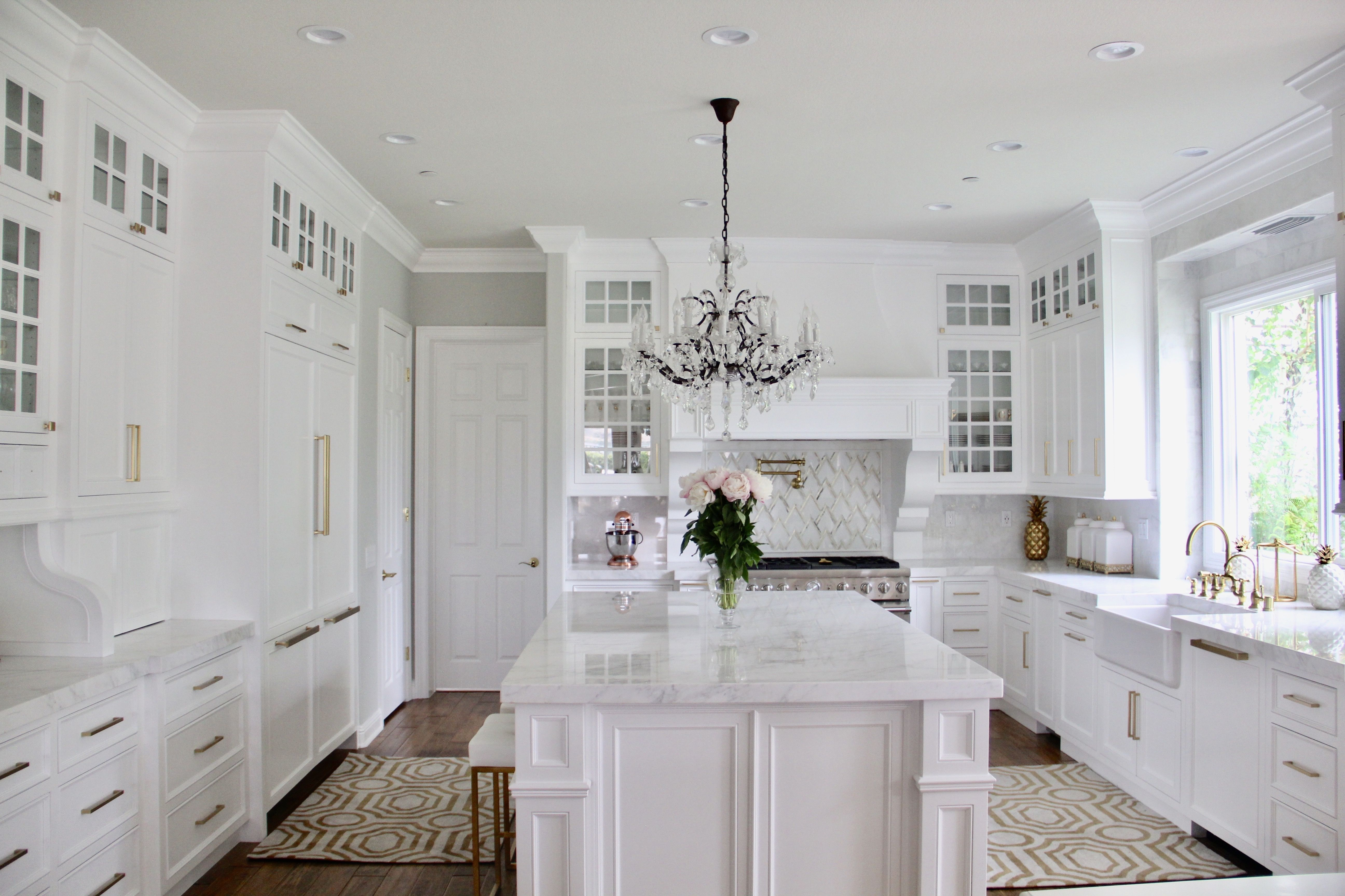 A beautiful white kitchen remodel in Coto de Caza by Cindy Jones ...
