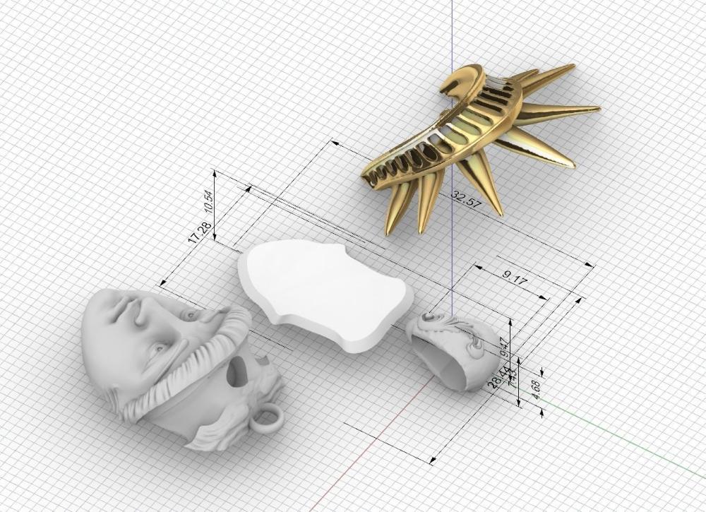 liberty statue pendant 3dmodel 3D model 3D printable STL 3DM