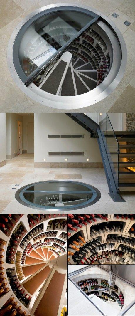 Pretty Spectacular Indoor Spiral Wine Cellar