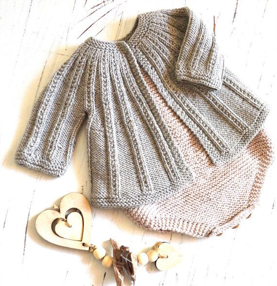 88d9dafd79ae Knitting Pattern for Baby Set with Seamless Top Down Cardigan plus ...