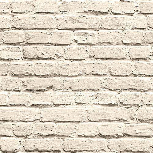 82e29554ef73e Muriva Just Like It Painted Brick Faux Stone Wall Mural Washable ...
