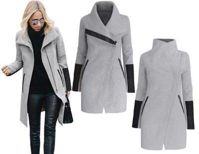 Kurtka Narzutka Plaszcz Flausz Skora Zamek M677 7605735563 Oficjalne Archiwum Allegro Coat Jackets Fashion