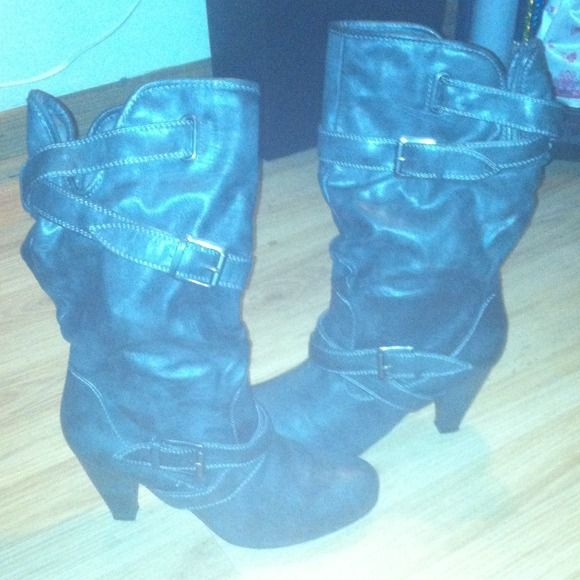 I just discovered this while shopping on Poshmark: 1 DAY SALE Fashion mid length heeled boots. Check it out! Price: $25 Size: 8.5, listed by aseria