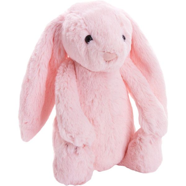 Jellycat Bashful Bunny 20 Liked On Polyvore Featuring Toys Baby Baby Stuff Baby Girl And Fillers Pink Stuffed Animals Jellycat Bunny Plush Bunny Toy