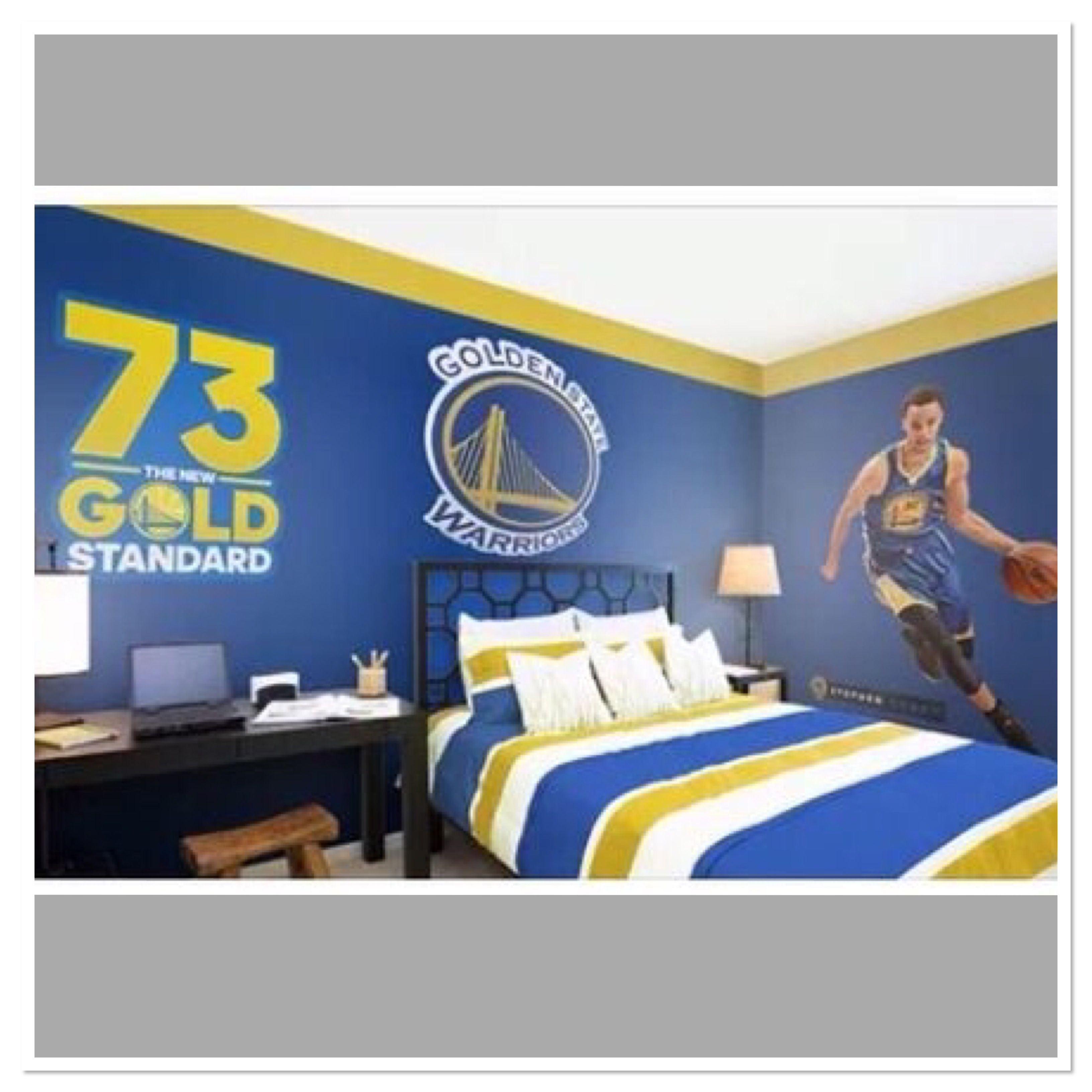 Basketball Bedroom Golden State Warriors Bedroom Find Your Perfect Fatheads For Your Bedr Basketball Bedroom Golden State Warriors Bedroom Boys Bedroom Decor