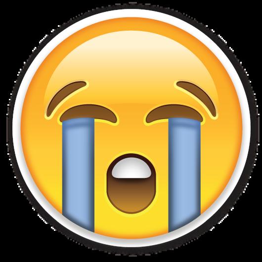 Loudly Crying Face | Stiker, Lucu, Fotografi