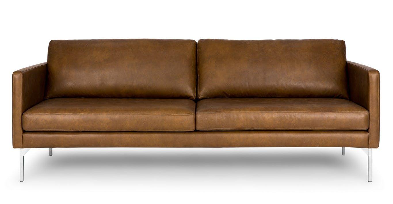 Echo Oxford Tan Sofa Modern Leather Sofa Tan Sofa Brown Leather Sofa