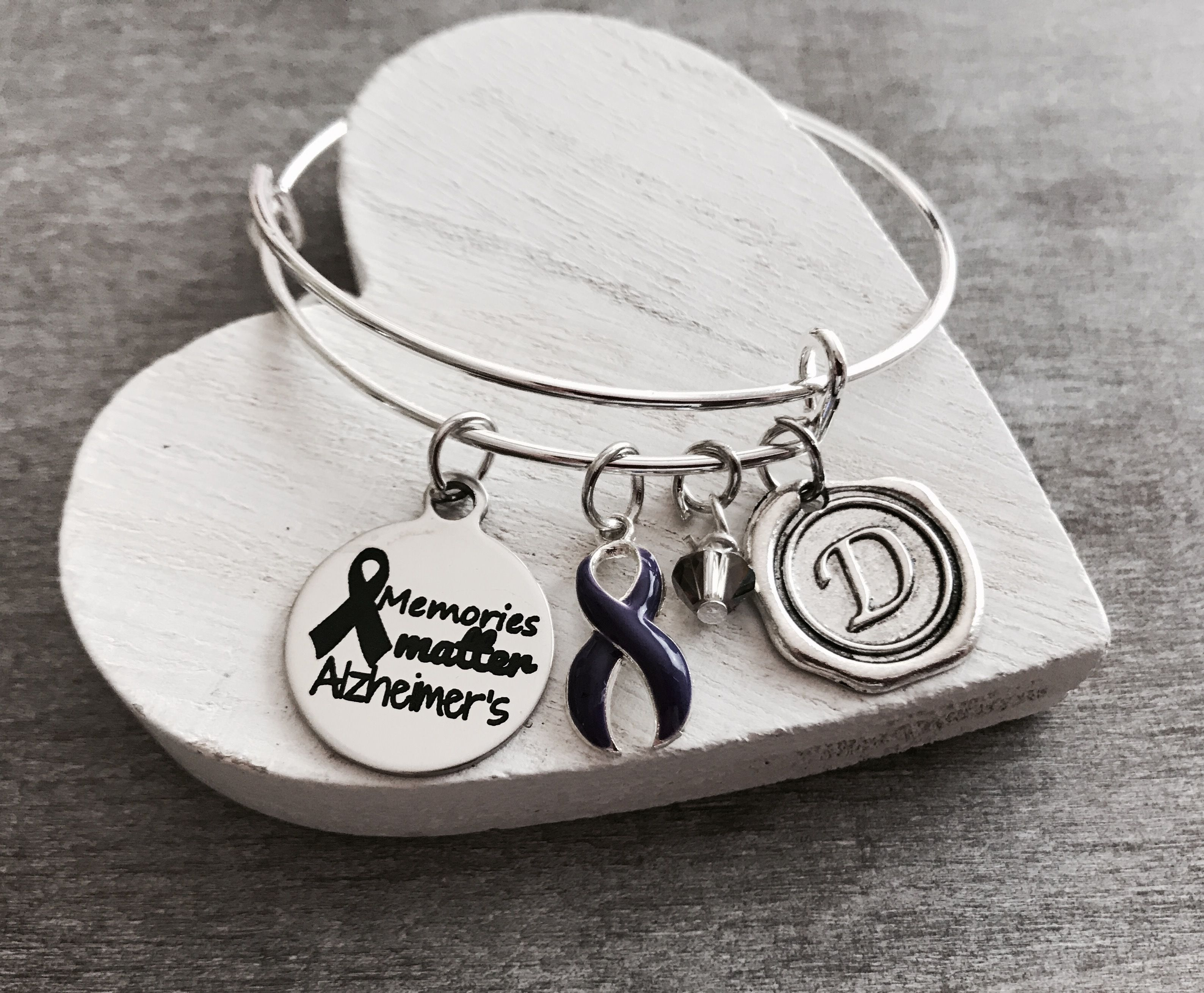 alzheimer month pin bracelet s with awareness tassels
