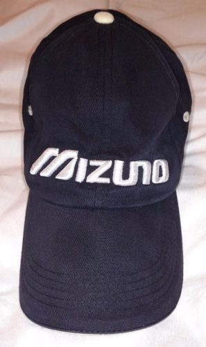 MIZUNO-Performance-Wear-Sportswear-LOGO-ADVERTISING-Black-ADJUSTABLE-HAT-CAP fcd5ec6eb979