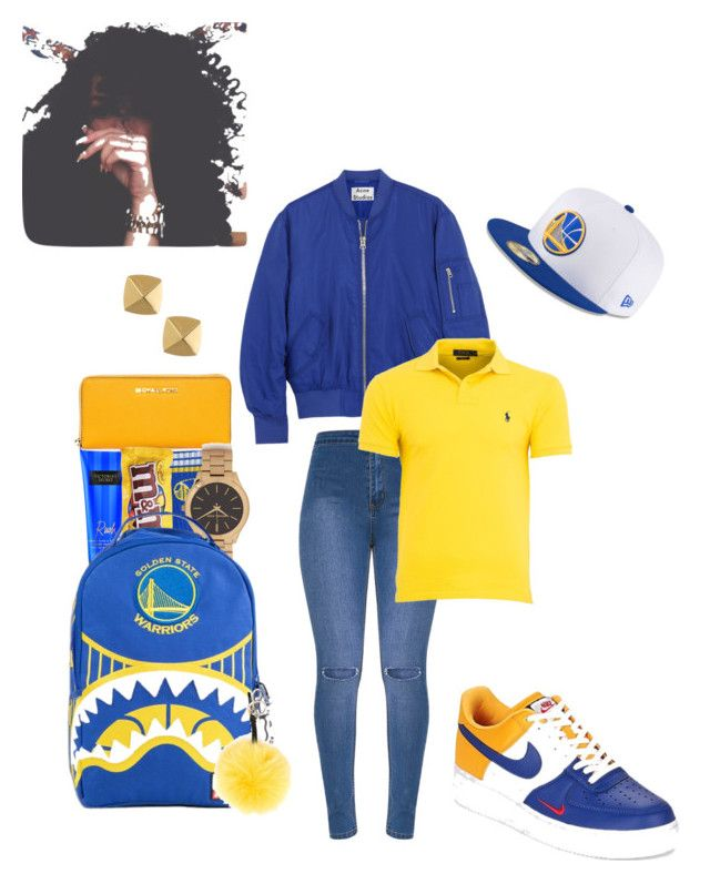 """""""I ain't warrior fan but............"""" by isa03 ❤ liked on Polyvore featuring Acne Studios, New Era, NIKE, Ralph Lauren, For Bare Feet, Victoria's Secret, Michael Kors, Fendi and Vince Camuto"""